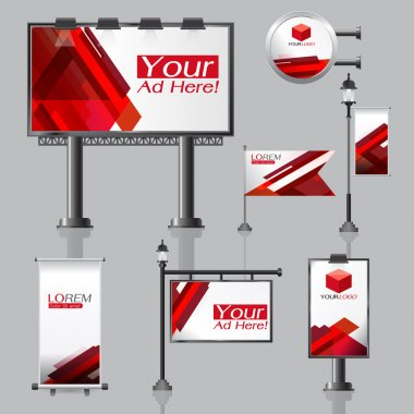 vector Outdoor advertising design for company with color circles
