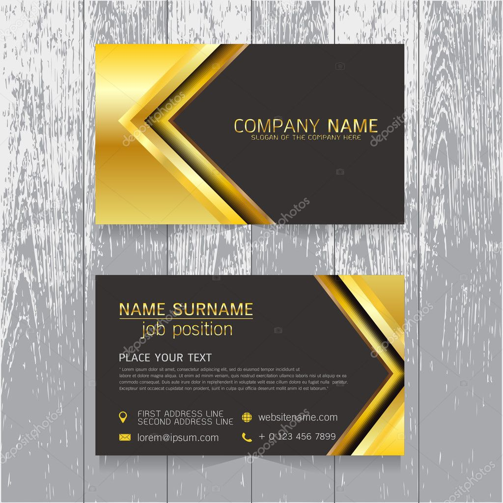 Vector creative leaf business card gold and black design of text vector creative leaf business card gold and black design of text stock vector colourmoves
