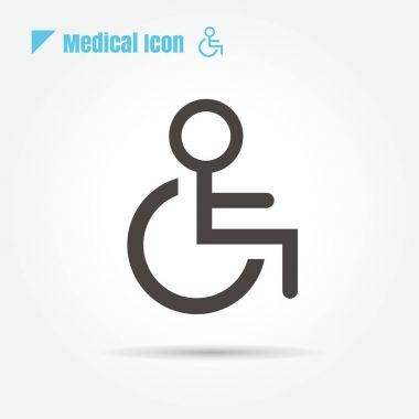 icon disabled Medical on white background and logo