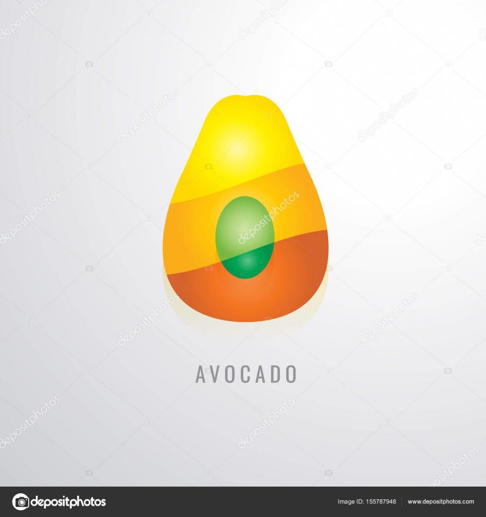Avocado-Frucht Farbe Abstufung gelb. Orange. rot. modernes desig ...