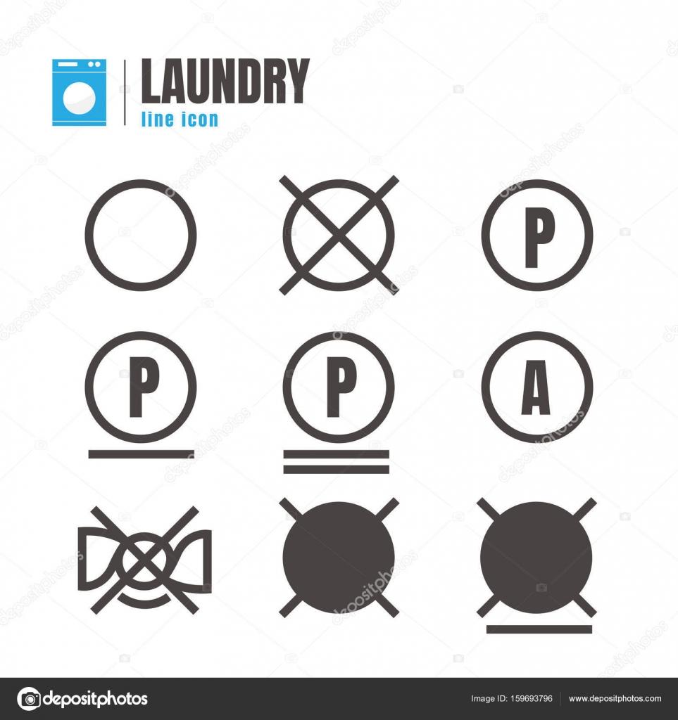 Laundry symbols vector icons set design elements on white bac laundry symbols vector icons set design elements on white bac stock vector biocorpaavc Choice Image
