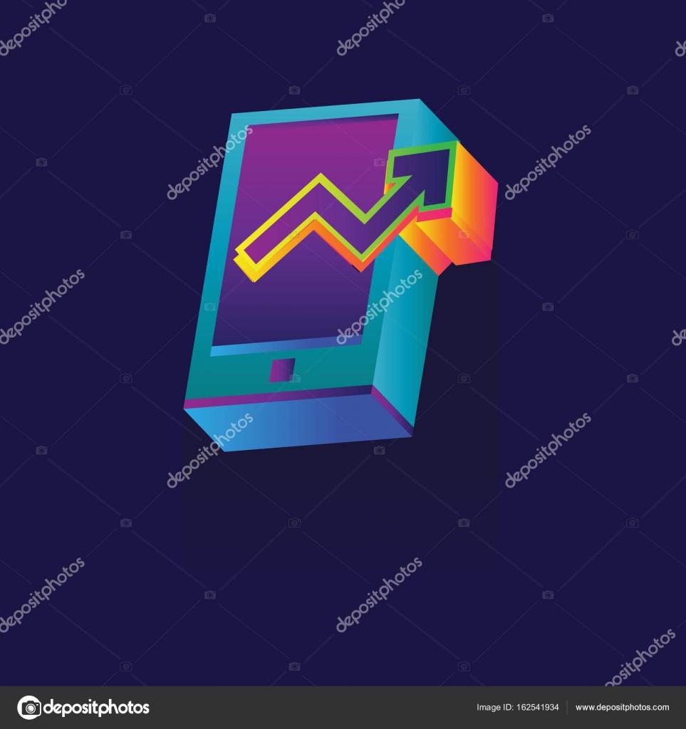 Stock Market Icon Vector Graphic