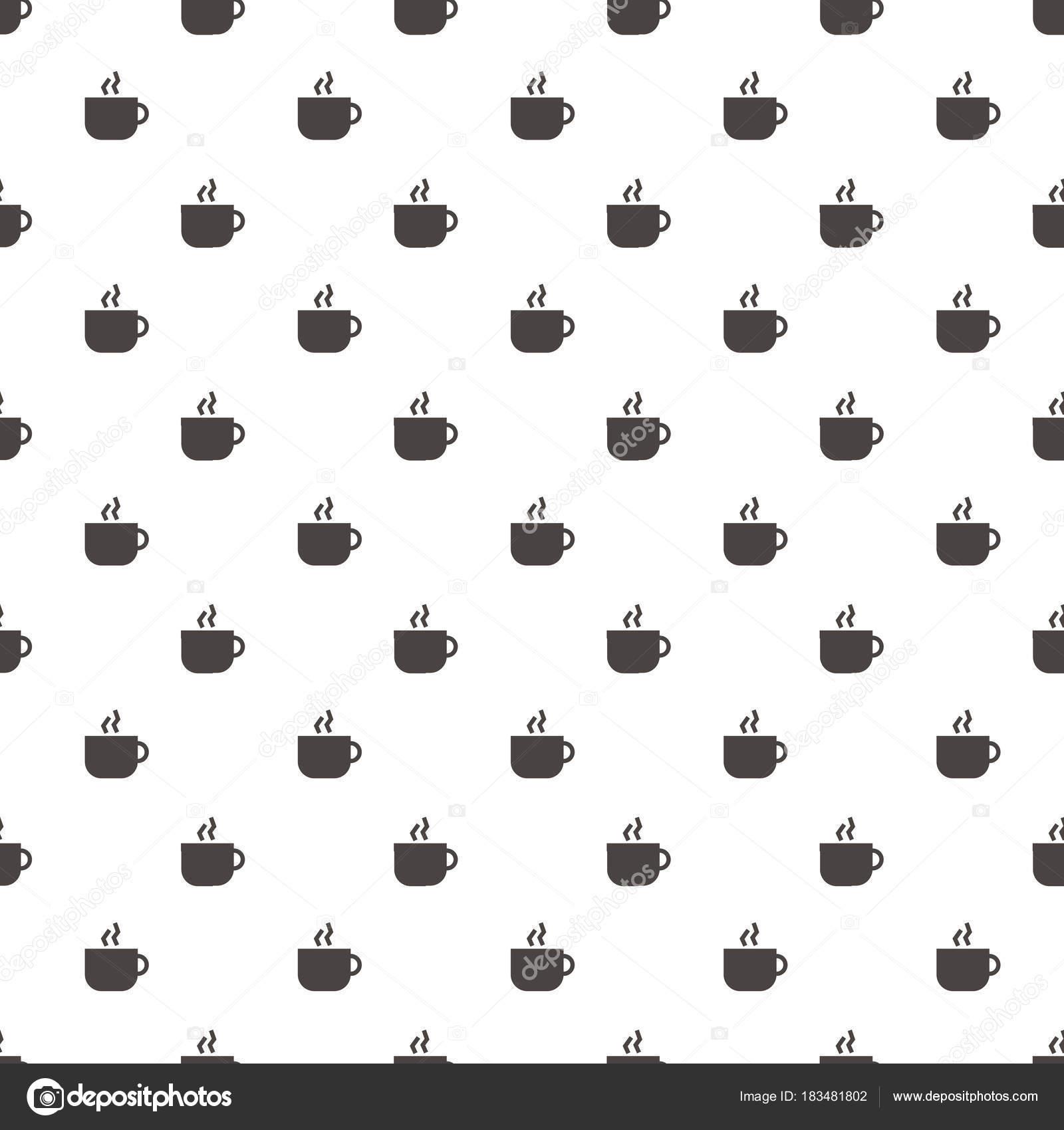 Patrón de café taza abstracta geométrica Wallpaper Vector illustrat ...