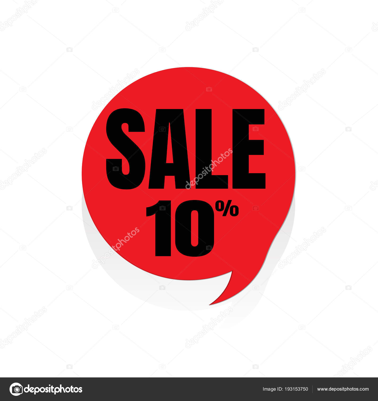 Special Offer Sale Red Tag Vector Illustration Discount Offer P Stock Vector