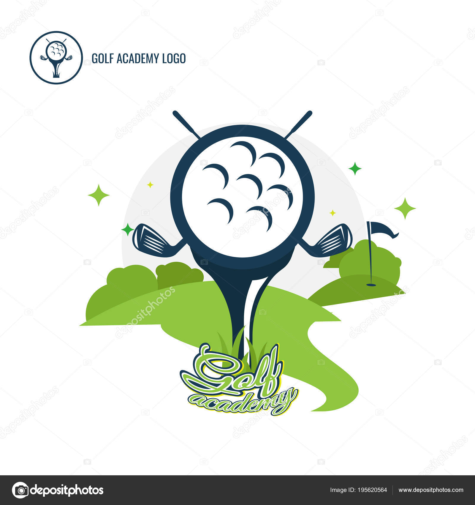 Set Of Golf Club Logos Design Collection Freeform Normal Peopl Stock Vector C Areegraphic Gmail Com 195620564