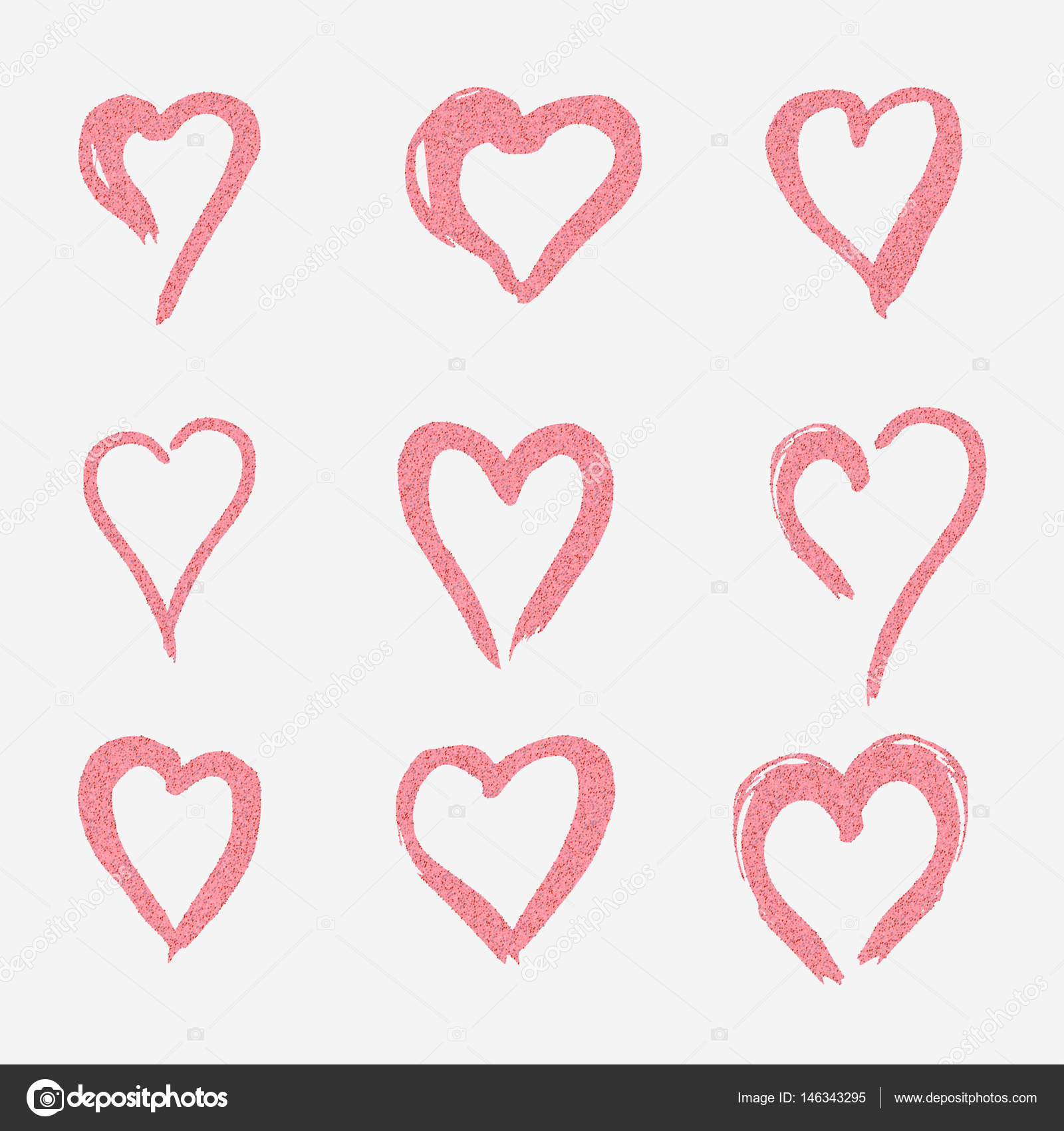 Flat style logo symbol of love tunisia stock vector 1atelier set of pink hearts in doodle style the logo a symbol of love on biocorpaavc