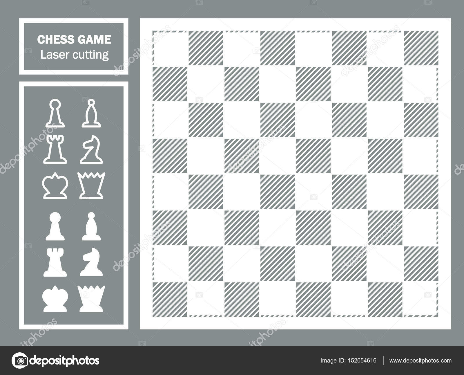 chess game decorative laser cut geometric ornament chessboard and