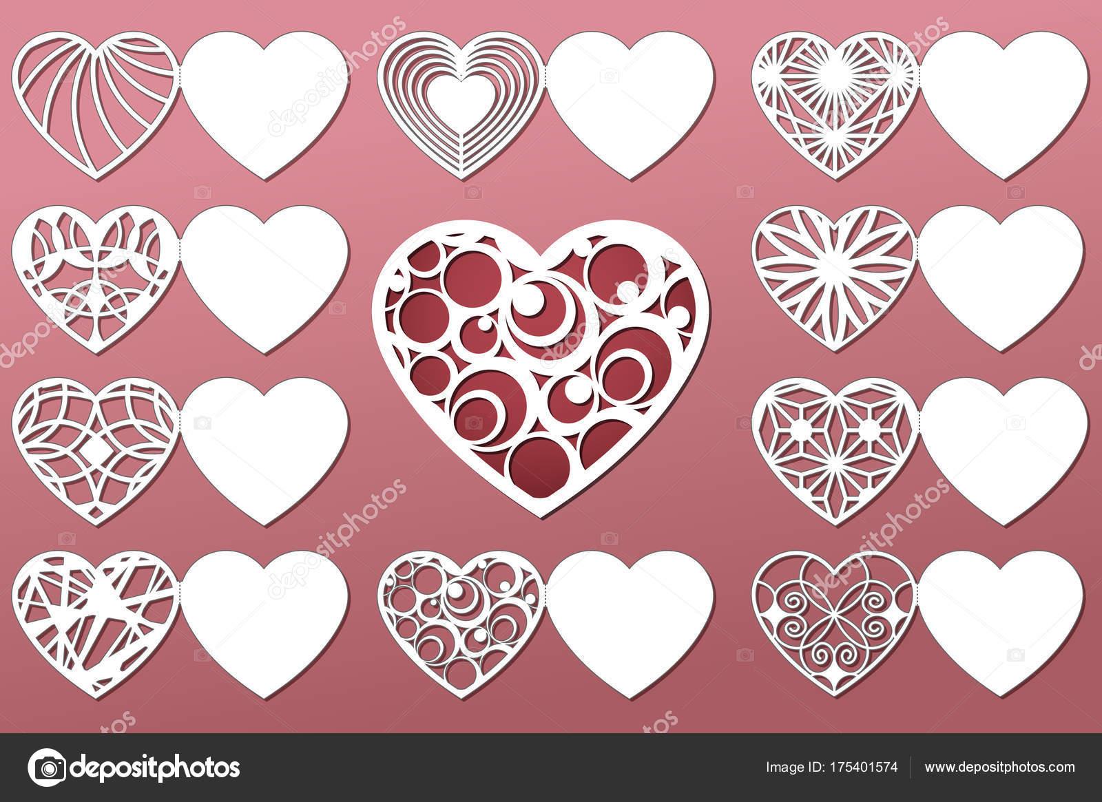Set Di Cartoline D Auguri Romantici Per Taglio Laser Adatto Per