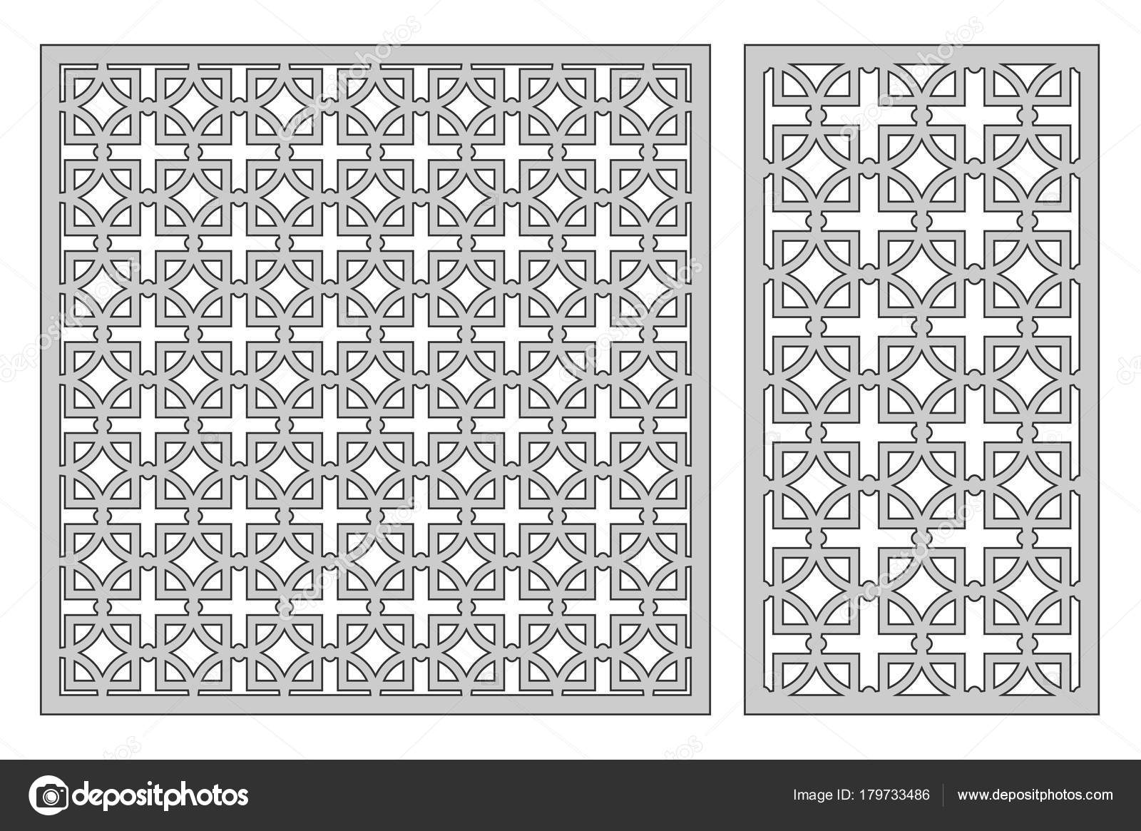 Set template for cutting. Square repeat pattern. Laser cut. Ratio 1 ...