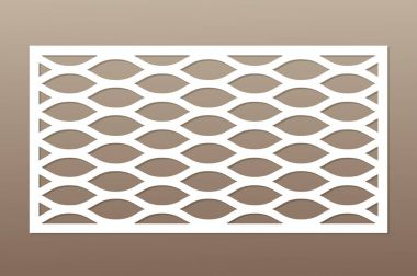 Template for cutting. Geometric line pattern. Laser cut. Ratio 1:2. Vector illustration.