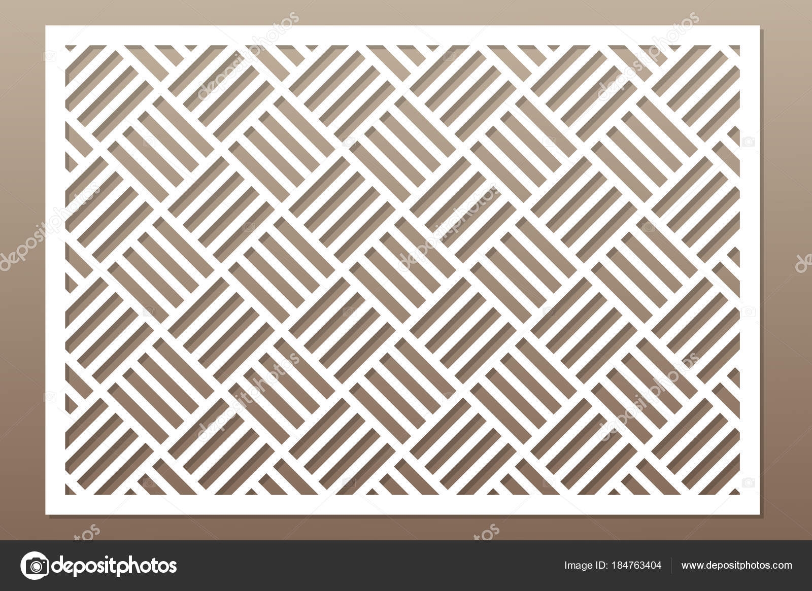 Template For Cutting Geometric Line Square Pattern Laser Cut Ratio 2