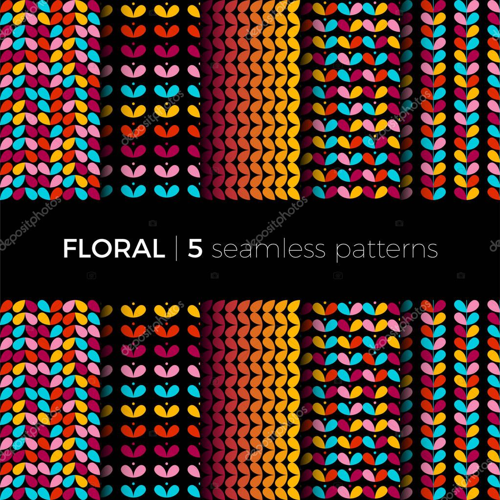 Floral colorful patterns