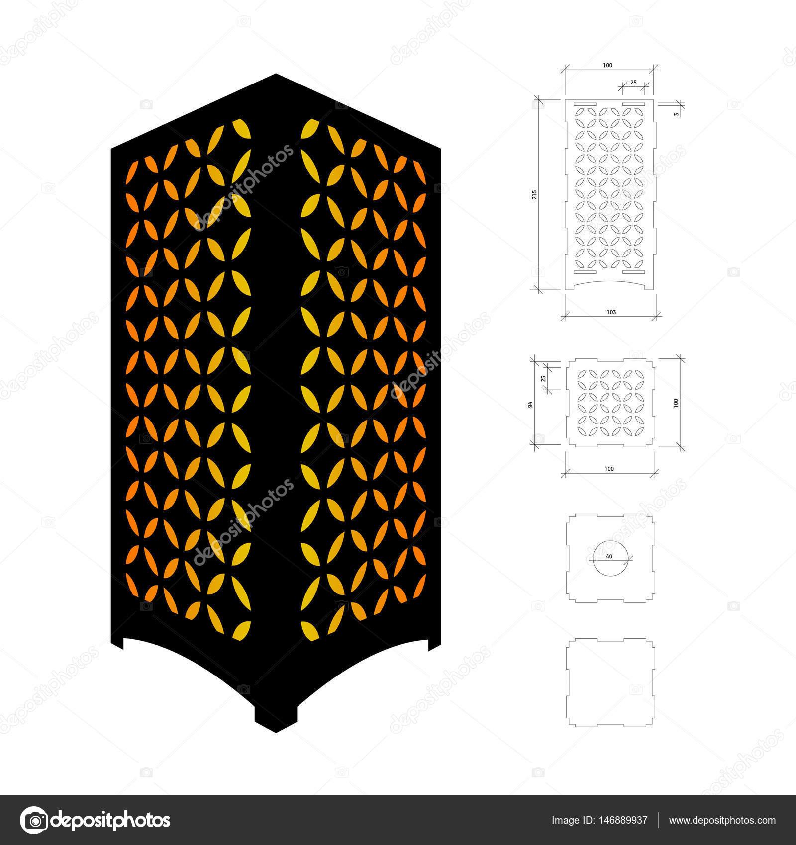 Recorte de plantilla para lámpara — Archivo Imágenes Vectoriales ...