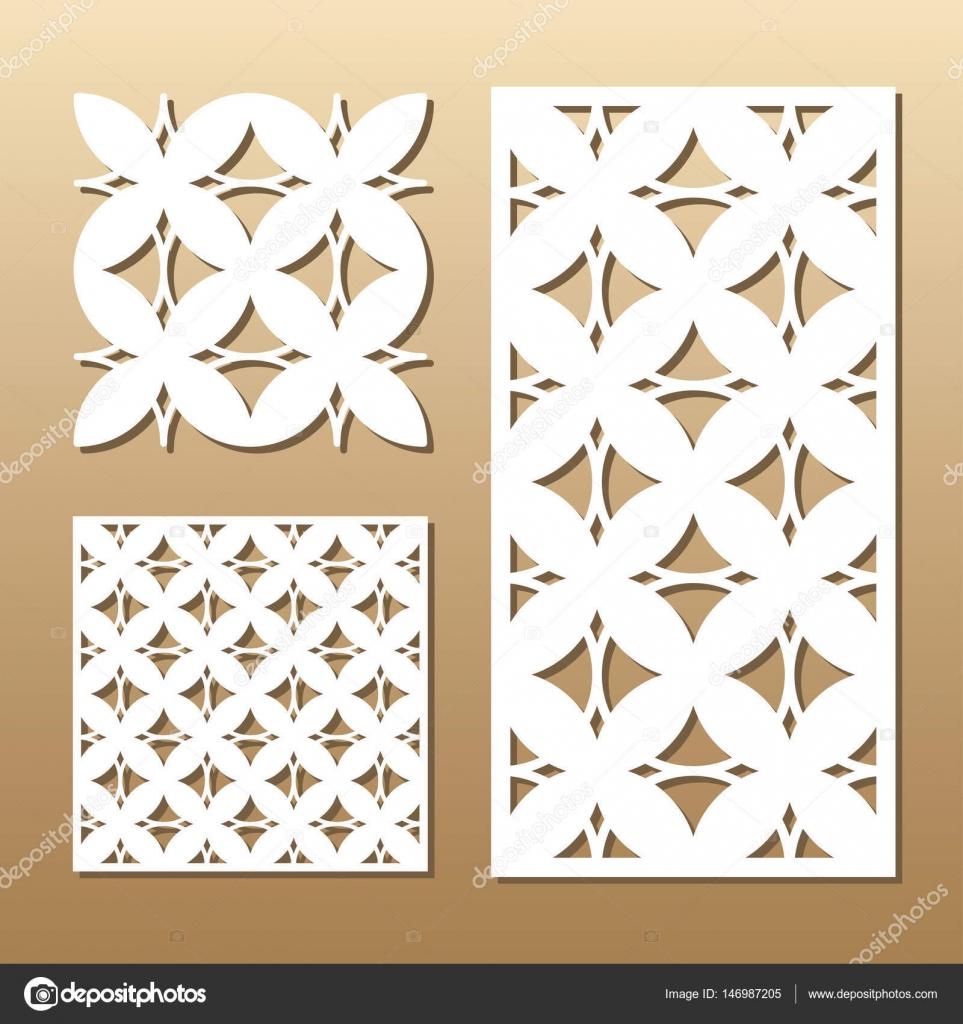 corte láser geométrica — Archivo Imágenes Vectoriales © midonova ...