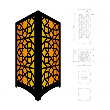 Cut out template for lamp