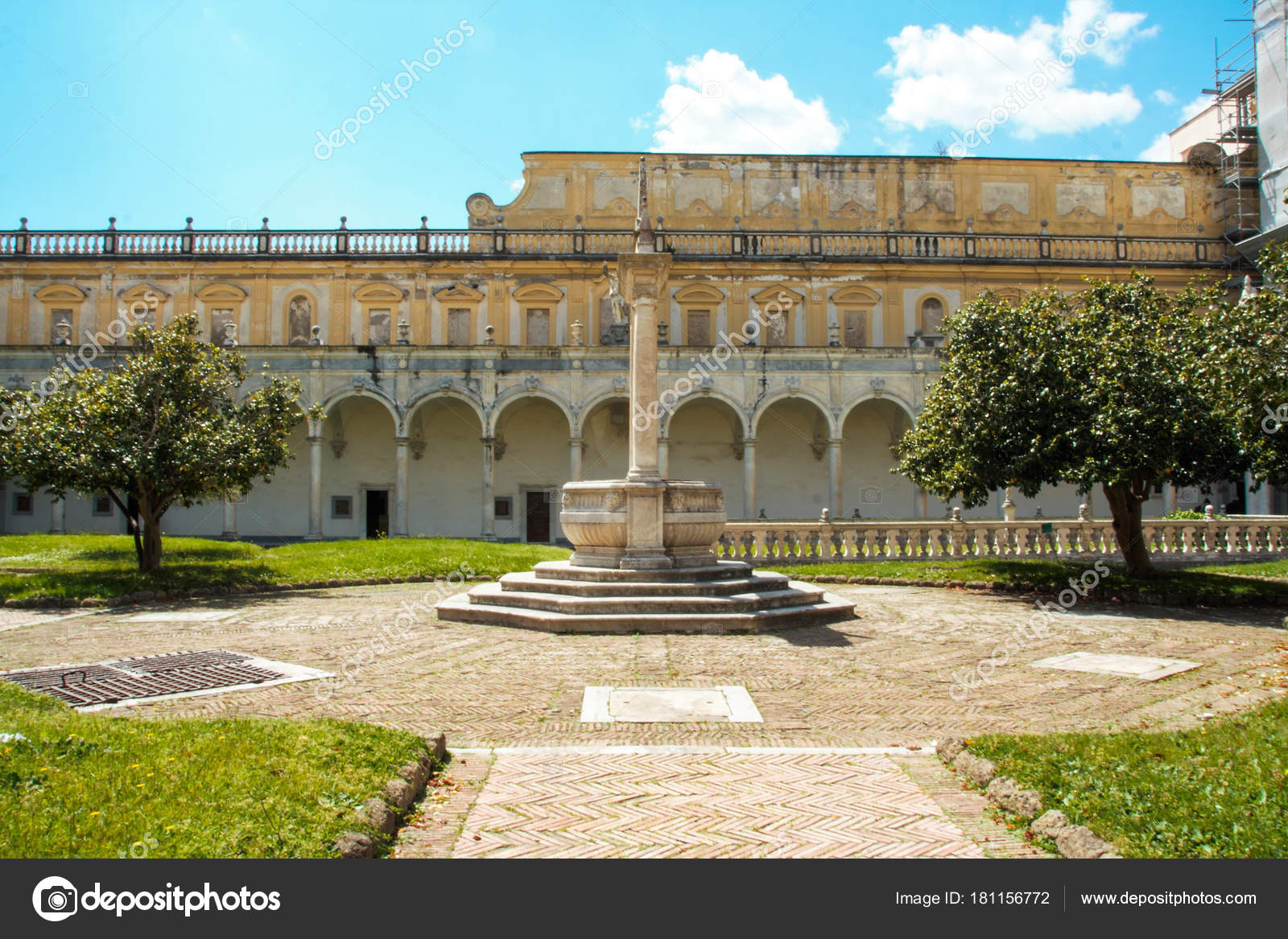 The Cloister Of San Martino Chartreuse In Naples Stock Editorial Photo C Laudibi Gmail Com 181156772
