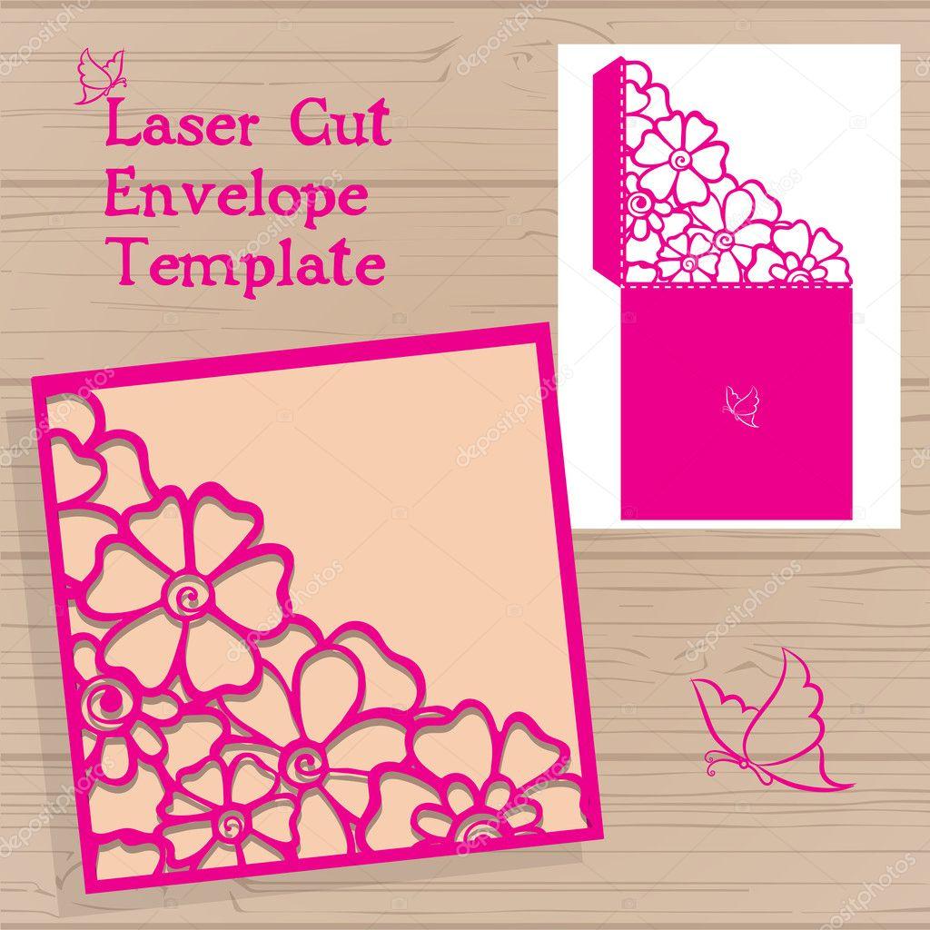 Lasercut Vector Wedding Invitation Template Wedding Invitation - Laser cut wedding invitation templates