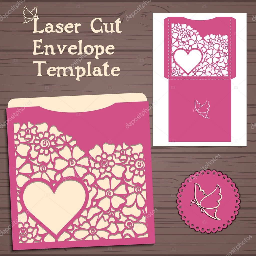 lasercut vector wedding invitation template wedding invitation