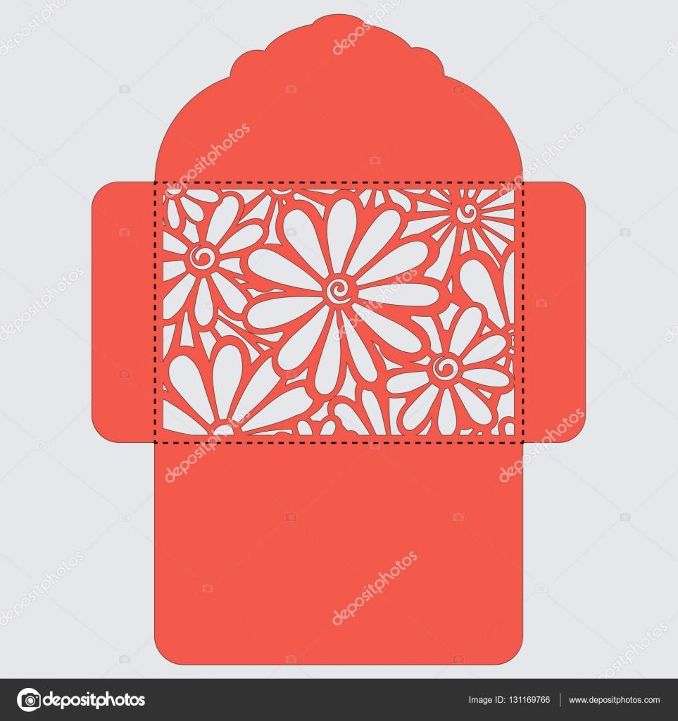 Lasercut vector wedding invitation template. Wedding invitation ...