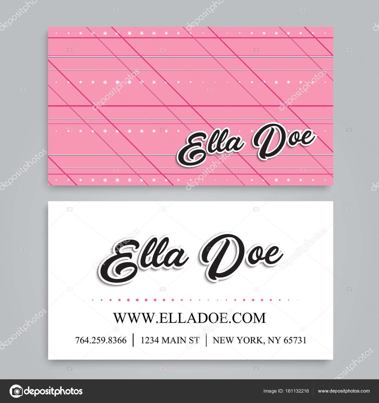 Floral business card template vector stock vector doodleflower floral business card template vector stock vector fbccfo Gallery