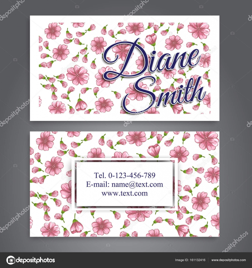 Floral business card template vector stock vector doodleflower floral business card template vector stock vector cheaphphosting Gallery
