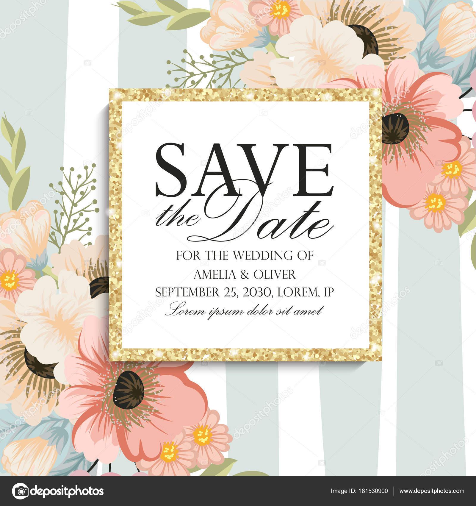 Grusskarte Mit Blumen Aquarell Kann Als Einladungskarte Fur Hochzeit