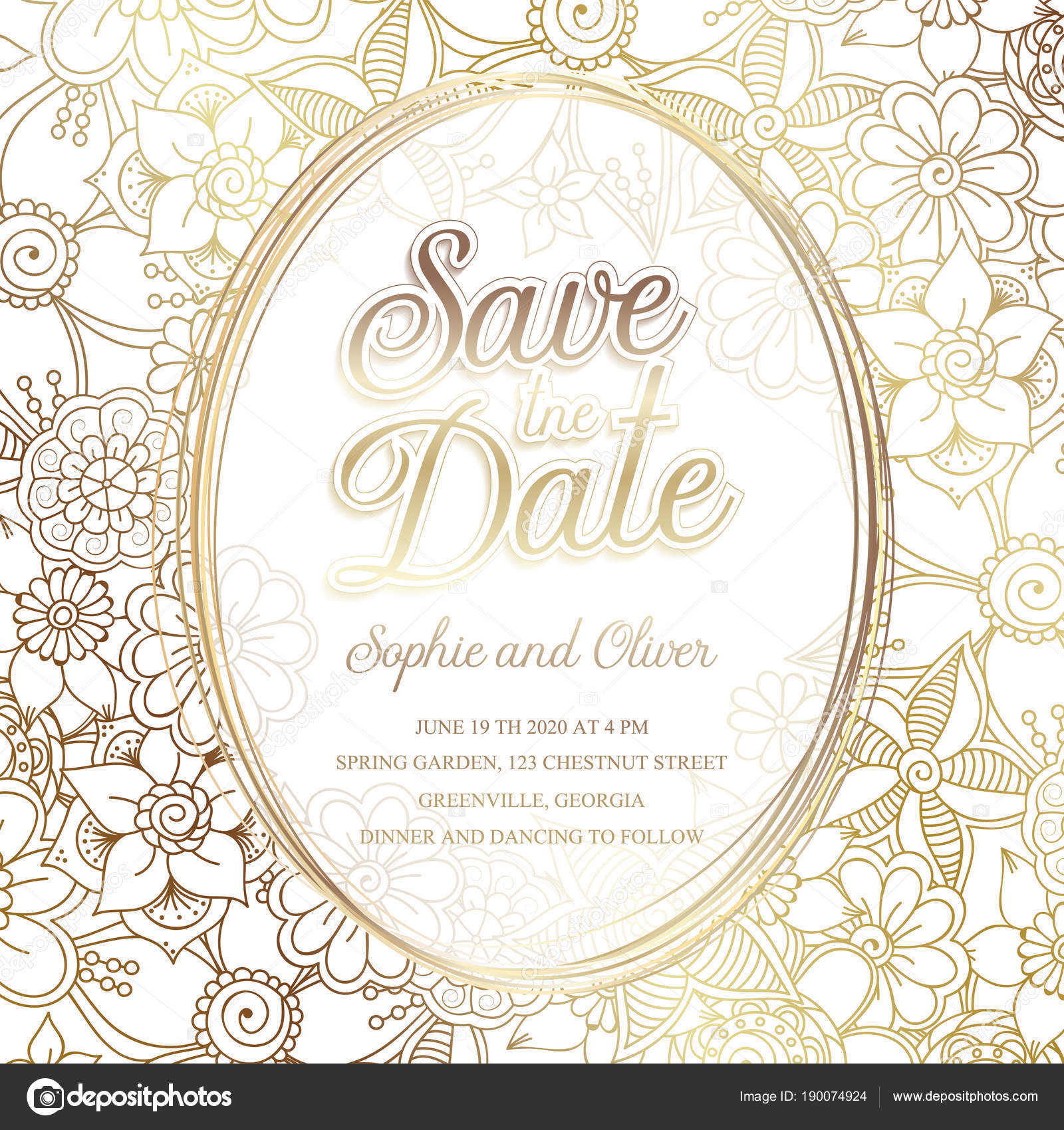 Floral wedding invitation elegant invite card vector design floral wedding invitation elegant invite card vector design vetores de stock stopboris Image collections