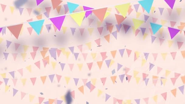 Multi-barevné konfety vybuchující krásné strany pozadí bezešvé smyčka