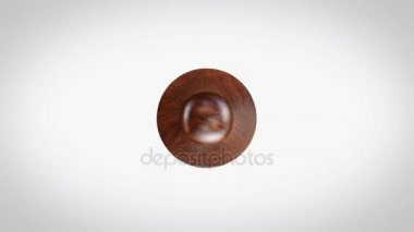 Genuine 3D Animated Round Wooden Stamp Animation