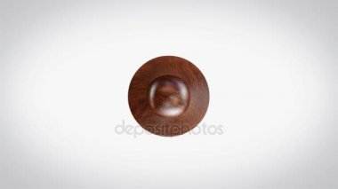 100% Handmade 3D Animated Round Wooden Stamp Animation