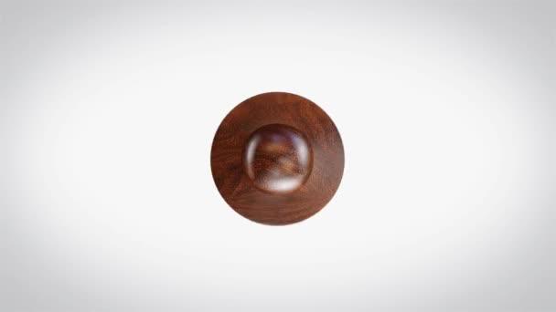 Ručně provedená 3D animovaná kulatá dřevěná značka