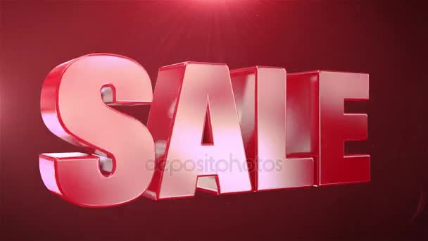 10% Sale  Animation Promotions In Red Text Seamlessly loopable Motion Background