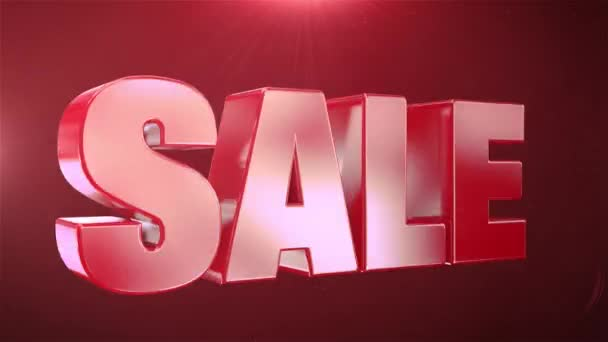 20% Sale Animation Promotions In Red Text Seamlessly loopable Motion Background