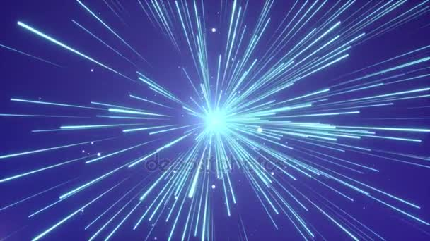 Absztrakt hajlítás vagy a hipertér mozgás a kék vonal csillagközi hurok háttér
