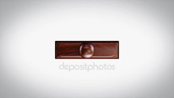 grandi sconti di parola 3d animato in legno bollo animazione