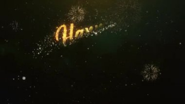 Happy new year 2015 colorful greeting video made stock video happy new year greeting text made from sparklers light dark night sky with colorfull firework m4hsunfo