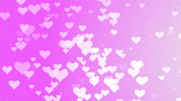 Romantic Pink big hearts floating motion background for Valentines Day