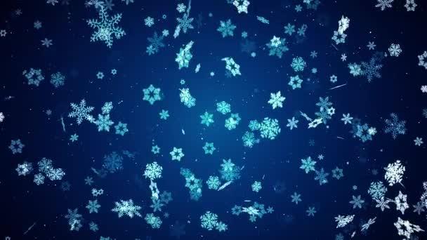 Immagini Natale Che Si Muovono.Astratto I Fiocchi Di Neve Di Natale Che Si Muovono Lentamente Loop Background