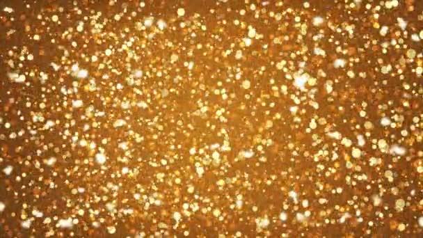 Arany csillogó arany szikra repülő izzó részecskék jelet ad grafikus háttér