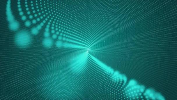 Světelný tunel abstrakce od zářící otočení prstence svítit částice