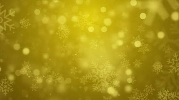 Golden Abstract Falling snow flakes Snowflakes Particles 4K Loop Animation