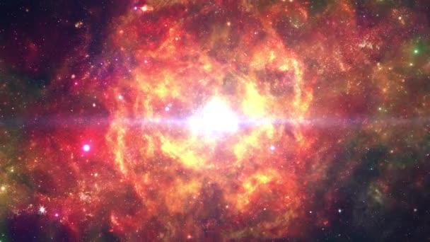Scénická animace Galaxy Outer Space Moving Stars Loop Animation.