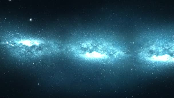 Sci-fi Flying in space galaxy stars and gas cloud Loop Animation
