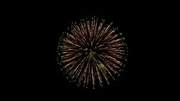 Krásné ohňostroje Explosion 4k animace.