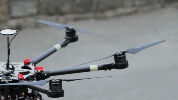 Quadcopter. Radio controlled hexacopter flying