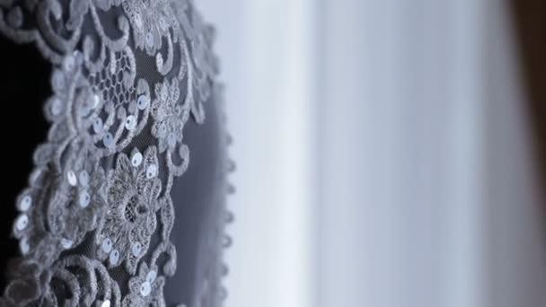 részleteket a menyasszonyi ruha, a csodálatos ruhát a menyasszony, háttér