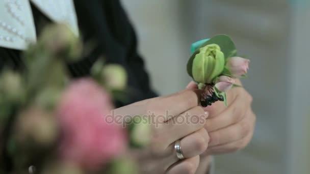 Květinářství obtéká kolem květ růže kočky zelená stuha