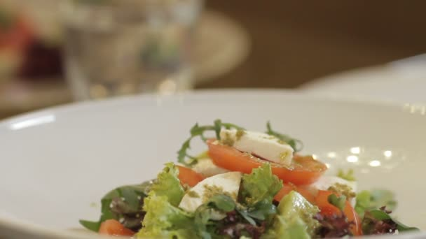 vegetable salad in bowl at home