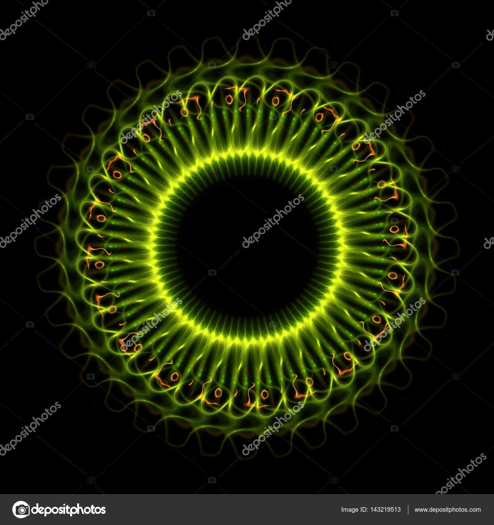 Menschliche Auge Detail. Seltsame grüne Augen gefährliche Tier mit ...