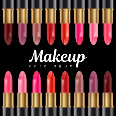 make up cataloque template with lipstick